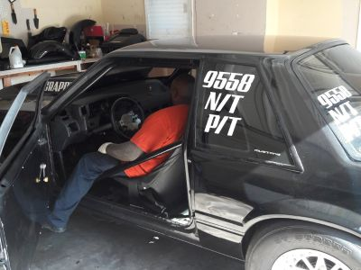 Mustang coupe racecar