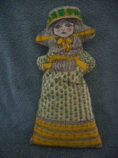 Vintage Beautiful Cloth Pillow Doll Rare