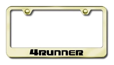 Purchase Toyota 4Runner Engraved Gold License Plate Frame -Metal Made in USA Genuine motorcycle in San Tan Valley, Arizona, US, for US $39.75