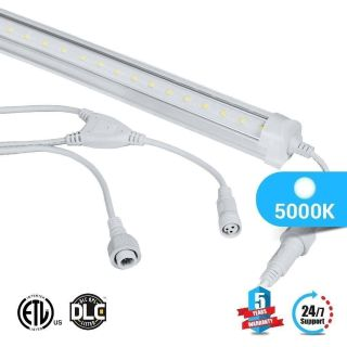 T8 4ft led freezer/ cooler tube V Shape 18w 5000k clear