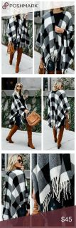 Boutique open poncho sweater