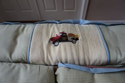 Wendy Bellissimo Crib Bedding: Vintage Fire Truck