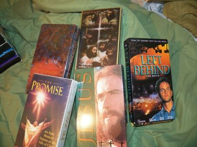 5 Religious VHS Tapes