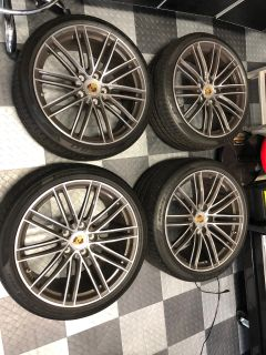 OEM 991 Porsche Turbo Wheels, Tires, TPMS and Center Caps 710 Miles