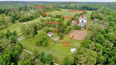 12 Hill Road Allentown Five BR, This 32 acre equestrian estate