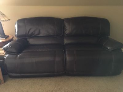Leather power love seat