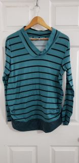 Cute Teal and Black Striped Size XL