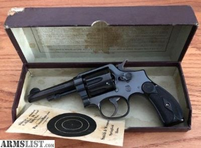 "For Sale: S&W PRE WAR .38 MILITARY & POLICE 4"" BARREL BOXED."