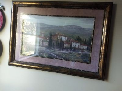 Landscape framed piece