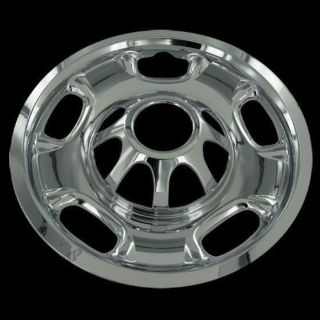 "Buy For GMC 2500 3500 Silverado 17"" CHROME 8 Lug Wheel Skins Hub Caps Covers Set motorcycle in Mundelein, Illinois, United States"