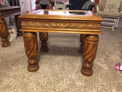 Beautiful Set of Solid Wood End Tables