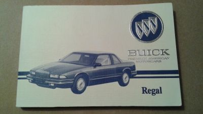 LIKE NEW! ORIGINAL OWNER'S MANUAL FOR 1993 BUICK REGAL - ON EBAY FOR $33.34 WITH SHIPPING