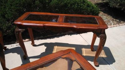 Wall Table ( 2 pieces of glass) 25.5 tall, top 52 x 20