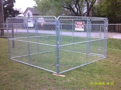 New 10' x 10' x 6' portable chain link dog kennel