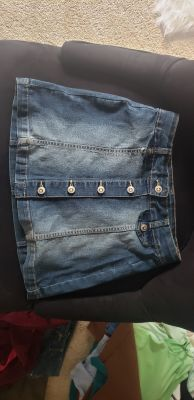 jeans skirt size 6