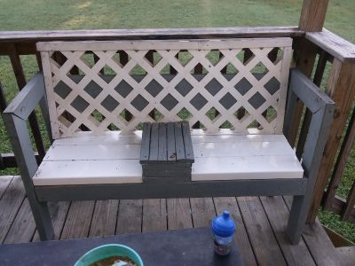 Handmade bench! Needs to be cleaned for sure