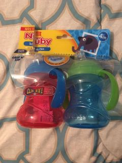 New Nuby Sippy Cups