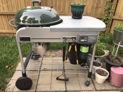 Weber gas/charcoal combo grill