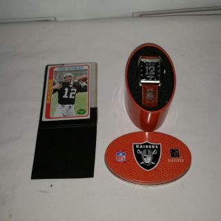 Ken Stabler 1978 Topps card and vintage watch never warn. Ken is Hall of Fame Oakland Raiders QB. Both for $15