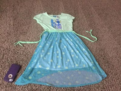 Disney Finding Dory dress in VGuC size 10/12 fits smaller I think more like 8 maybe 8/10? $3.00, scroll right