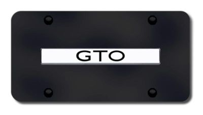 Purchase GM GTO Name Chrome on Black License Plate Made in USA Genuine motorcycle in San Tan Valley, Arizona, US, for US $33.38