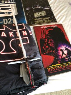 Star Wars Full Size Bedding Set and Acessories