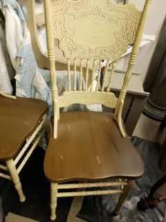 2 antique wood chairs