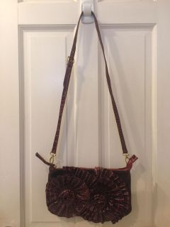 Red Roses Cross Body Purse