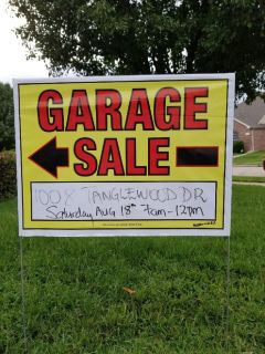 Garage Sale Saturday August 18th, 2018 7am - 12pm @ 1008 Tanglewood Dr.