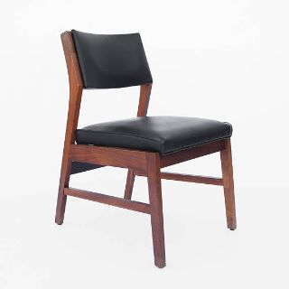 Danish Modern Inspired Chair - Walnut and Leather