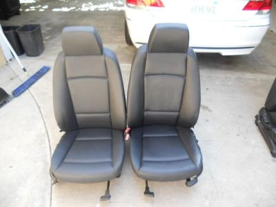 Find BMW E92 325 328 335 Coupe 2 Door Front Black Leatherette Vinyl Manual Seats motorcycle in Fountain Valley, California, US, for US $300.00