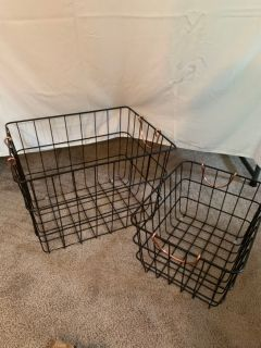 Two wire baskets