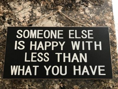 Great reminder wooden sign