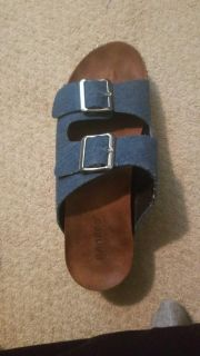 Lightly used bamboo sandles