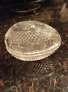 Vintage Avon 1977 Mother's Day Clear Glass Collectible Egg