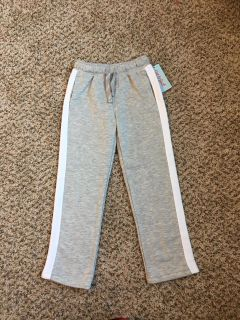 Cat & Jack Sweatpants. Adjustable Waist. Grey/White. Size 5t. Brand New with Tags.