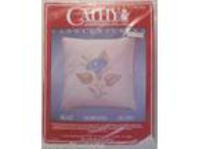 Cathy Needlecraft Candlewicking Pillow Kit Blue Morning