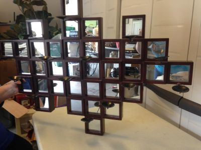 Large Bombay mirror for wall.