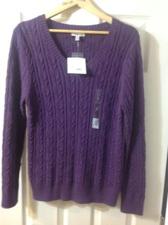 NEW with tags Purple V Neck Sweater