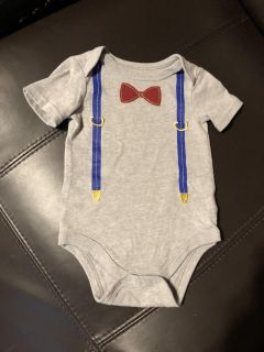 Cat & Jack Brand New Overalls Bow Toe Onesie Playsuit. Nice For Christmas. Size 3-6 Months