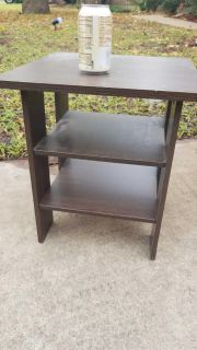 Particle board end table
