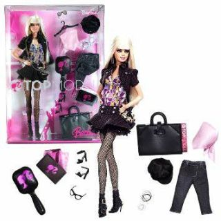 New! Top Model Barbie Doll + Accessories Collector