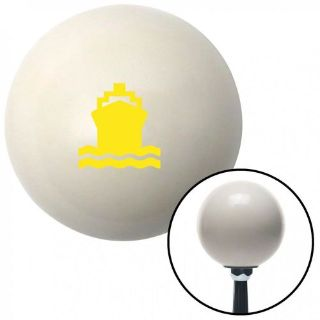 Buy Yellow Boat Ivory Shift Knob with 16mm x 1.5 Insertshift knobs cover pool standa motorcycle in Portland, Oregon, United States, for US $29.97