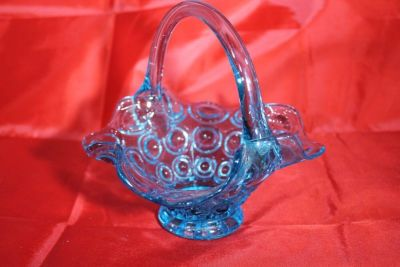 GLASSWARE: Blue and Clear, Glass and Crystal Candy Dishes