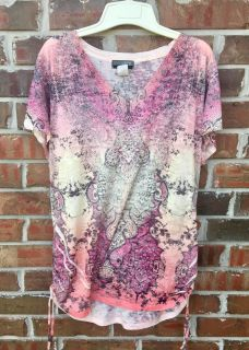 Ladies 2X light weight shirt with bling, flowers & different colors