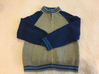 Boys gray and blue Gymboree sweater