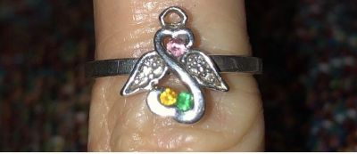 **Great Mothers Day gift** Open hearts infinity ring