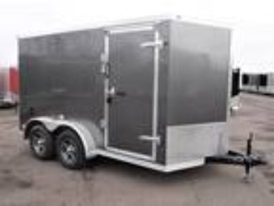 "2019 RC Trailers 7x12TA Enclosed 6'6"" Int Cargo - Charcoal"