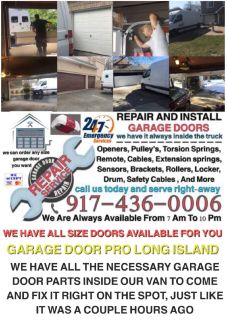 24/7 GARAGE DOOR REPAIR AND INSTALLATION SERVICE NEW YORK & LONG ISLAND