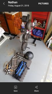 225 lbs,weights,and accessories